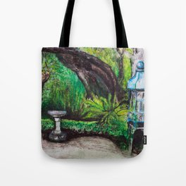 Birdcage in the California garden Tote Bag