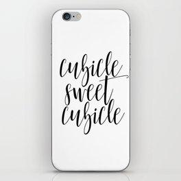 "Black and white printable art ""Cubicle Sweet Cubicle"" office art print office wall art office decor iPhone Skin"