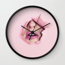 Mouth kiss Wall Clock