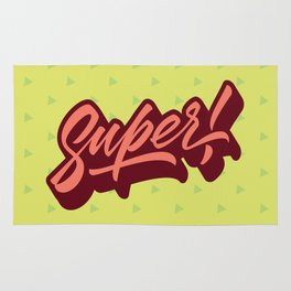 Calligraphic Lettering Super Rug