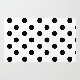 White & Black Polka Dots Rug