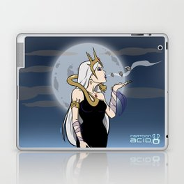 Kiss of Death - Evil Queen Blowing Kisses (Skulls with Wings) Laptop & iPad Skin