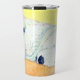 white bear Travel Mug