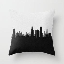 City Skylines: Chicago Throw Pillow