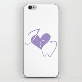 I (heart) Tooth iPhone Skin