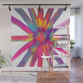 Rainbow Starburst Color Explosion Wall Mural