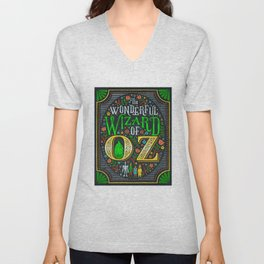 wizard art print Unisex V-Neck