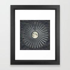 Phases // Moon Calendar 2017 Framed Art Print