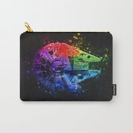 Millennium Falcon Splash Painting - Star ship Wall Art Carry-All Pouch