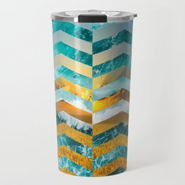 Golden Lapas -Wide Chevrons Travel Mug