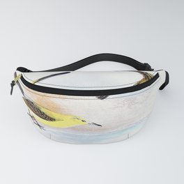 Yellow Wagtail - Vintage Art Illustration Fanny Pack