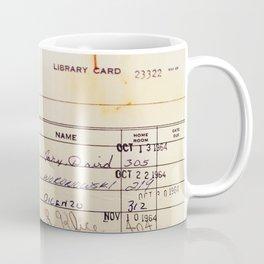 Library Card 23322 Kaffeebecher