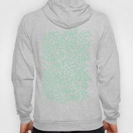 Shoes White on Mint Hoody