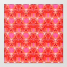 Candy Corn Inspired Pink & Orange Abstract Canvas Print