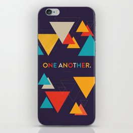 One Another Scripture Poster (Romans 15) iPhone Skin