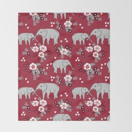 Alabama university crimson tide elephant pattern college sports alumni gifts Throw Blanket