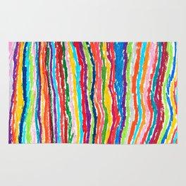 Coloured crayon stripes Rug