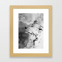 Lion Love Framed Art Print