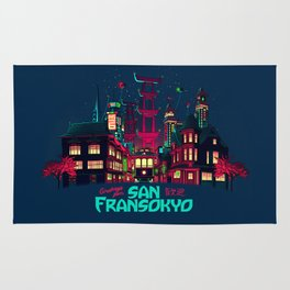 Greetings from San Fransokyo Rug