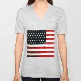USA Flag ~ American Flag ~ Ginkelmier Inspired Unisex V-Neck