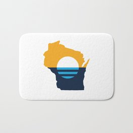 Wisconsin - People's Flag of Milwaukee Bath Mat