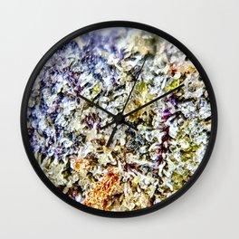 Purple Forum Cut Cookies Strain Resinous Amber Trichomes Dank Buds Close Up Wall Clock