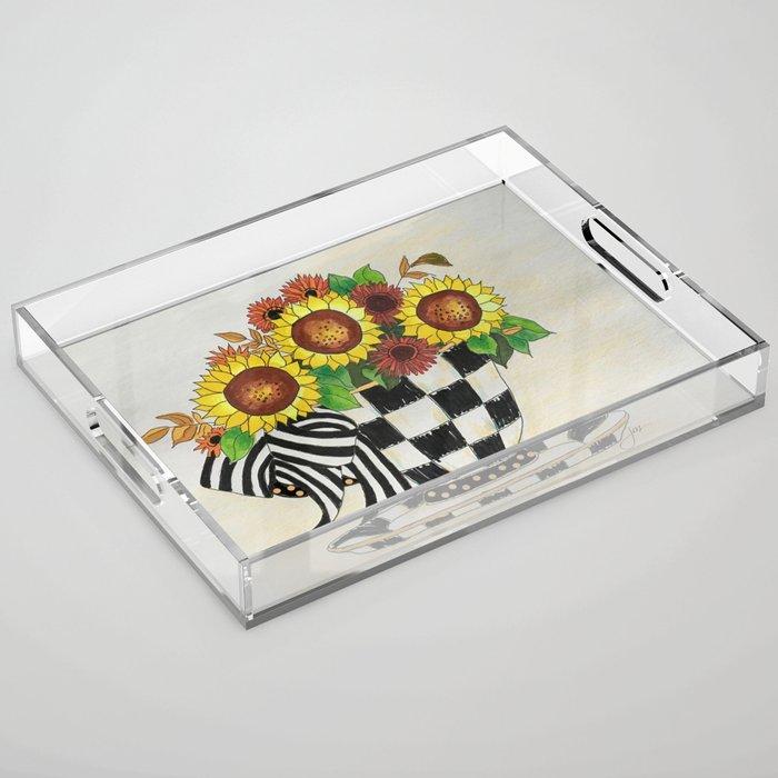 Sunflower Tea Acrylic Tray