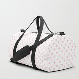 Millennial Pink Pastel Stars on White Duffle Bag