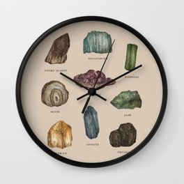 Gems and Minerals Wall Clock