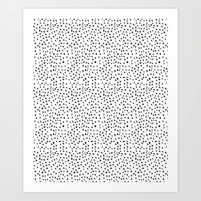 Snowstorm Black and White Art Print