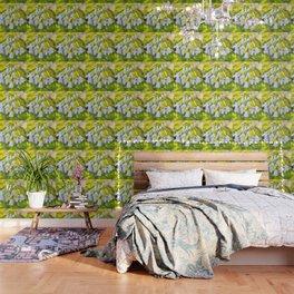 White woodland flora. Wallpaper