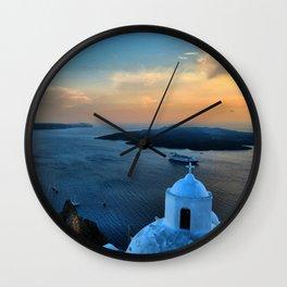 Santorini 10 Wall Clock