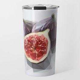 Polygon Fig Style - Low Poly Travel Mug