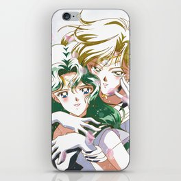 Sailor Uranus and Neptune White iPhone Skin