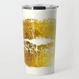 Lips Gold Travel Mug