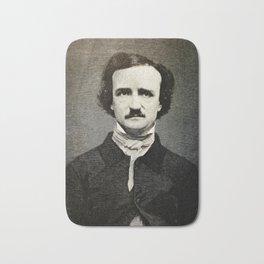 Edgar Allan Poe Engraving Bath Mat
