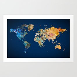 Old world map art prints society6 gumiabroncs Image collections