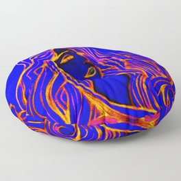 Lotus Turtle Red Fire Floor Pillow
