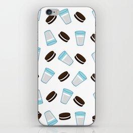 Oreo and milk pattern iPhone Skin