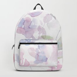 Blooming blush and purple watrclolor Backpack