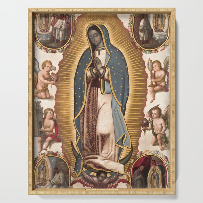 Virgin of Guadalupe, 1700 Serving Tray