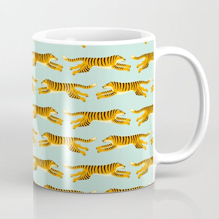 leaping tigers- mint Coffee Mug