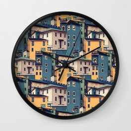 Night Castles (Pattern) Wall Clock