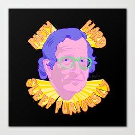 Party Chomsky Canvas Print