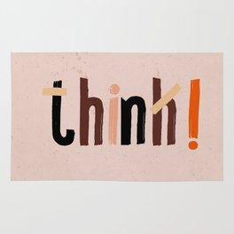 Quote - think! Rug