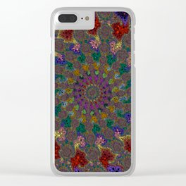 Fractal Helix Clear iPhone Case