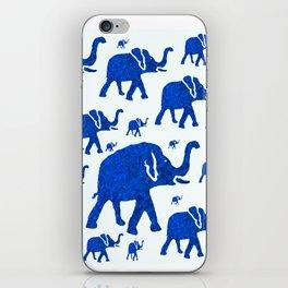 ELEPHANT BLUE MARCH iPhone Skin