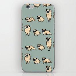 Pug Burpees iPhone Skin