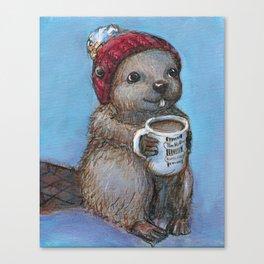 Canadian Beaver Canvas Print