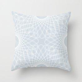 mathematical rotating roses - ice gray Throw Pillow